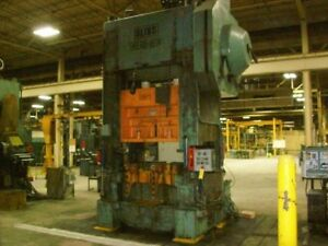 Bliss High Speed Straight Side Punch Press 400 Ton X 62 X 36 4540