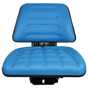 Tf222bu New Blue Trapezoid Back Flip up Seat For Ford New Holland Tractors