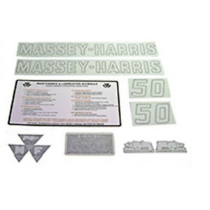 R4309 Complete Vinyl Decal Set For Massey Harris Mh Tractor 50