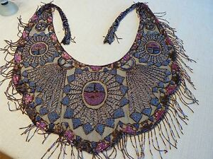 Beautiful Antique Carnival Glass Beaded Shawl Art Deco Style