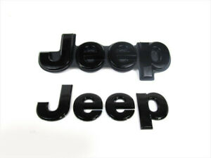 14 16 Jeep Grand Cherokee Front Rear Blacked Out Jeep Emblem Badge Oem Mopar
