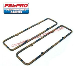 New Set Of Fel Pro 1604 Thick Valve Cover Gaskets Chevy Sb 400 350 327 305 283