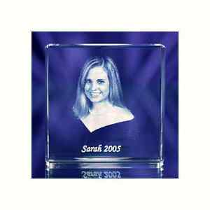 Large Crystal Photo Square Paperweight Laser Picture Image Engraving