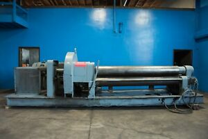 Webb Initial Pinch Power Plate Bending Roll 5 8 X 8 Metal Rolling Machine