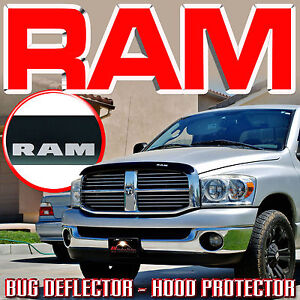 2006 2009 Dodge Ram Bug Rock Stone Deflector Hood Windshield Protector With Logo