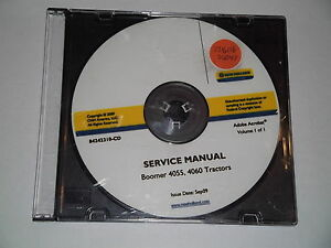 New Holland Boomer 4055 4060 Tractor Service Shop Repair Manual Book Cd