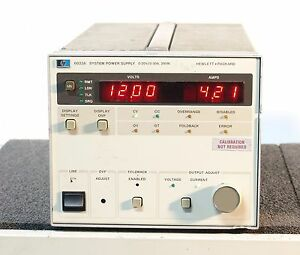 Hp agilent 6033a System Autoranging Dc Power Supply 20v 30a 200w