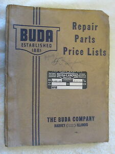 1940 s Buda Model 6dh 691 Diesel Engine Repair Parts List Manual