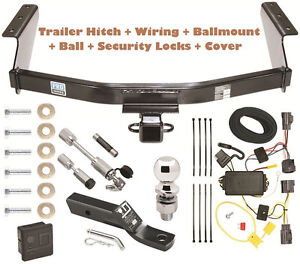 07 11 Dodge Nitro Trailer Tow Hitch Pkg Deluxe W Wiring Hitch Locks Cover