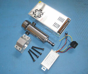 400w Cnc Spindle Motor Kits With Pwm Speed Controller Power Supply Mount Bracket