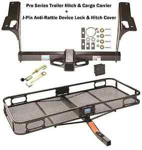 Trailer Tow Hitch Cargo Carrier Silent Pin Fits 2010 17 Subaru Outback Wagon