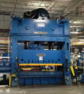 300 Ton Clearing Straight Side Double Crank Punch Press Vari Speed 144 x 72 Bed