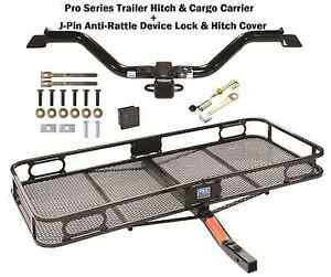 2009 17 Chevy Traverse Trailer Tow Hitch Cargo Basket Carrier Silent Pin New