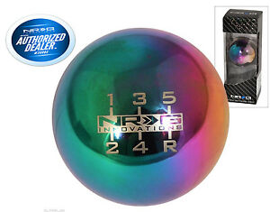 Nrg Ball Round Neo Chrome Weighted Shift Knob Universal 5 Speed Sk 300mc w