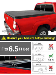Premium Tri Fold Tonneau Cover For 2007 2013 Toyota Tundra 6 5ft 78in Bed