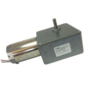 12v 30rpm Pmdc Worm Geared Motor With Metal Gearbox Reducer For Diy Parts
