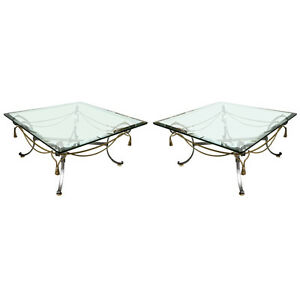 A Pair Of Tassel And Ribbon Form Coffee Low Tables 101 5452 101 5458
