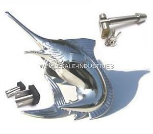 Marlin Sword Fish Trailer Plug Hitch Cover Stainless Universal New Bully Pilot