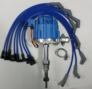 Ford 5 0l 302 Efi To Carb Conversion Hei Distributor Blue Spark Plug Wires Usa