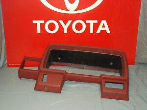 84 85 86 87 88 Toyota Pickup Truck 4runner Instrument Cluster Red Bezel Dash