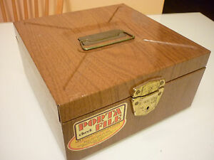 Vintage Box Trinket Cash Collection Jewelry Treasure Storage Metal Sheet Tin