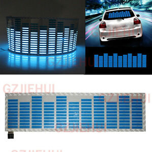 Car Sticker Music Rhythm Led Flash Light Sound Activated Equalizer Lamp 45x11cm