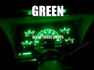 6 Green T10 Led Instrument Panel Cluster Dash Light Bulb Pc168 Pc194
