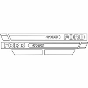 F4100vc New Ford New Holland Tractor Hood Decal 4100