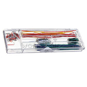 140pcs Solderless Breadboard Jumper Cable Wire Kit Box Shield For Arduino W