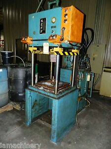 12 Ton Neff 4 Post Hydraulic Press 26 X 26 Pressing Forming Stamping