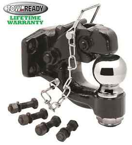 Tow Ready Pintle Hitch Hook 16000 Lbs W 2 5 16 14k Trailer Ball Grade 8 Hrdwre