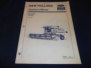Ford New Holland Tr87 87 Combine Operation Maintenance Manual Book