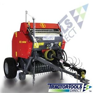 Tx48 Mini Round Hay Baler With Net Wrap And Central Drawbar For Compact Tractors