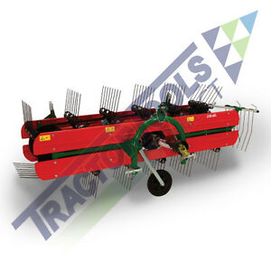 Tm120 Belt Hay Rake tedder By Molon Pto Powered For Compact Tractors