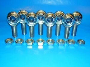1 2 20 X 1 2 Bore 4 link Rod End Economy Kit Heim Joints With Jam Nuts