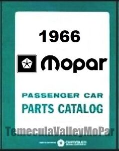 Factory Mopar Parts Manual For 1966 Plymouth Dodge Chrysler Imperial