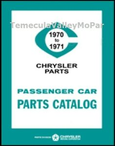 Factory Mopar Parts Manual For 1970 1971 Plymouth Dodge Chrysler Imperial