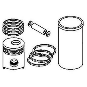 Re19831 Piston Liner Kit For John Deere Tractor 2630 2640 Industrial 410c