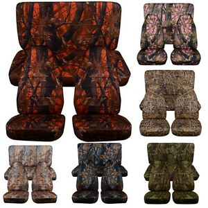 1987 2002 Jeep Wrangler Front And Rear Seat Covers Choose Your Camouflage