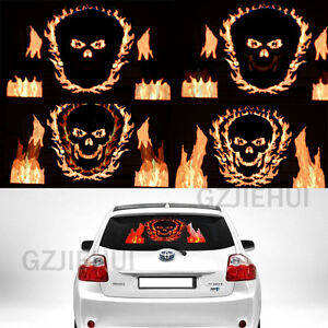 Car Music Rhythm Skull Led Flash Light Sticker Sound Activated Equalizer 50 30cm
