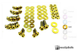 Dress Up Bolts For 07 15 R35 Gtr Gold Ti Titanium Engine Bay Kit