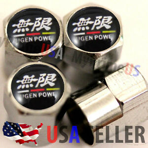 Mugen Power Logo Valve Stems Caps Covers Wheel Tire Acura Rsx Civic Si Gsr Jdm 4