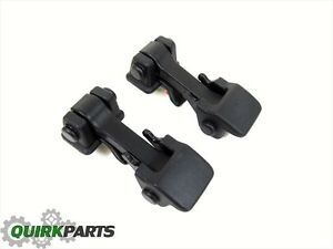 2007 2017 Jeep Wrangler Hood Catch Latch Hold Down Pair Oem New Mopar Genuine