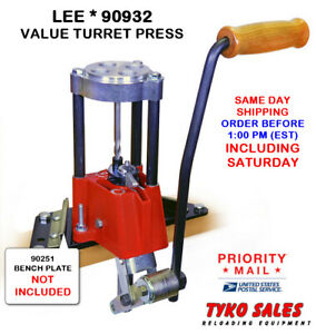 LEE 90932 * LEE PRECISION 4-HOLE TURRET PRESS WITH AUTO INDEX * 90932