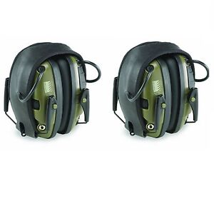 Howard Leight R 01526 Impact Sport Electronic Shooting Ear Muffs 2 pair Package