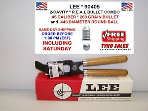 LEE 90405 * LEE COMBO MOLD * .440 ROUND BALL & REAL * 45 CAL * 200 GR * 90405