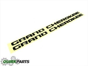 14 16 Jeep Grand Cherokee Altitude Emblem Nameplate Badge Black Set 2 New Mopar