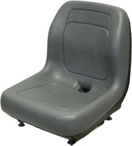 7805co New Skid Steer Gray Seat W Slide Tracks Made To Fit Nh Ls120 Ls125