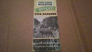 John Deere Killefer Off Set Disk Brochure