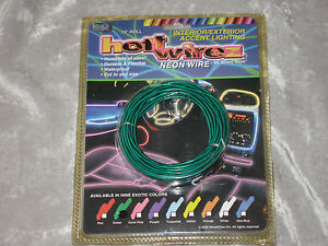 Green El Neon String Wire 15 Ft Car Boat Rv Motorcycle Speakers Lights New